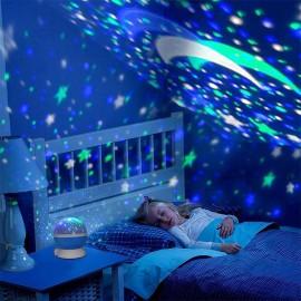 Veilleuse Rotative avec Projecteur LED et Couleurs Changeantes