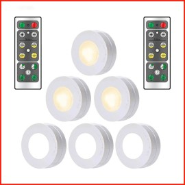 Mini Veilleuse Ronde LED Mural avec Luminosité Réglable