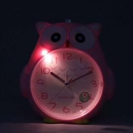 Horloge Style Hibou éclairage nocturne pour Enfant