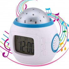 Radio Réveil Projecteur d'Étoile pour Enfant
