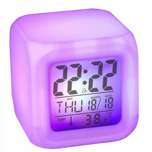 Radio Réveil Cube Lumineux pour Voyage