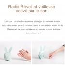 Radio Réveil en Bois pour Enfant - Veilleuse