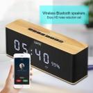 Radio Réveil en Bois Bluetooth Qualité de Son Supérieur