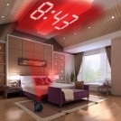 Radio Réveil Projecteur au Plafond