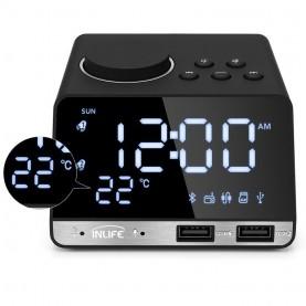 Radio Réveil FM avec Prise de recharde USB