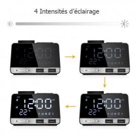 Radio Réveil FM avec Prise de Recharge USB