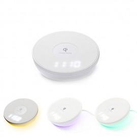 Chargeur Horloge avec Recharge par Induction QI et Affichage de l'Heure
