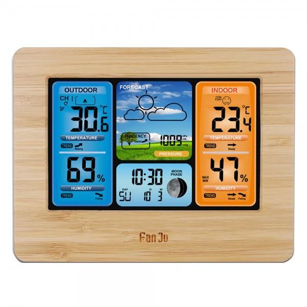 Station Météo avec Capteur Extérieur - Thermomètre - Hygromètre - Baromètre - Affichage LCD - Radio Réveil